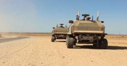 Israelisches autonom agierendes Patrouillenfahrzeug Guardium, Quelle: Wikimedia Commons   Bild (Ausschnitt): © Israel Defense Forces [CC BY-SA 3.0] - flickr