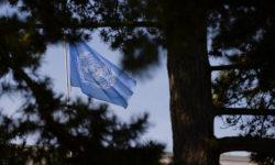 Flagge der Vereinten Nationen im Ariana Park in Genf. | Bild (Ausschnitt): © UN Geneva [CC BY-NC-ND 2.0] - Flickr