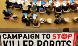 Die Campaign to Stop Killer Robots während der Jahreskonferenz der VN-Waffenkonvention CCW im November 2018 | Bild (Ausschnitt): © Campaign to Stop Killer Robots
