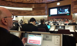 Jahresversammlung der Mitgliedsstaaten der VN-Waffenkonvention, November 2019 | Bild (Ausschnitt): © Facing Finance