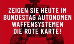 Bild (Ausschnitt): © Kampagne Killer Roboter Stoppen, Layout: Ole Kaleschke