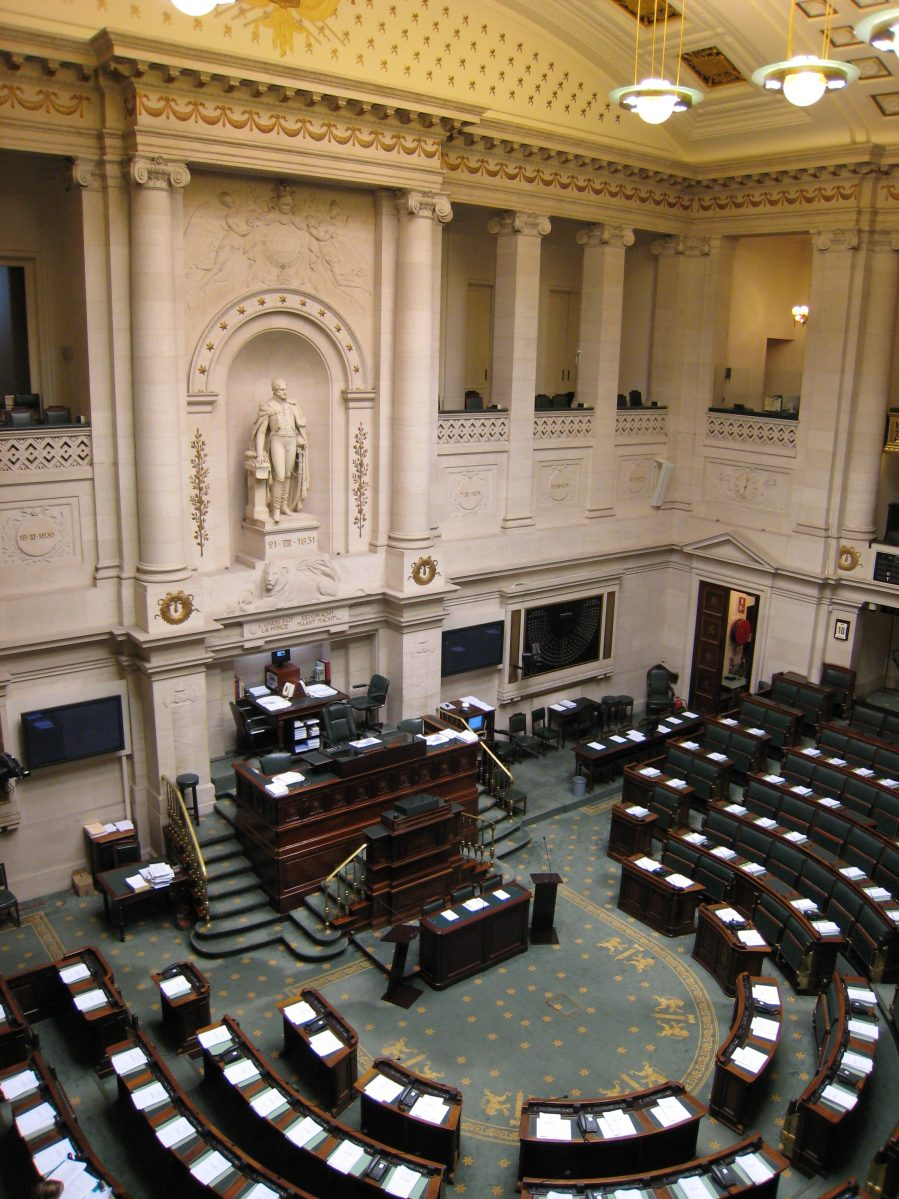 Innenansicht der Belgischen Abgeordnetenkammer. | Bild (Ausschnitt): © François Lambregts [CC BY-SA 2.0] - flickr