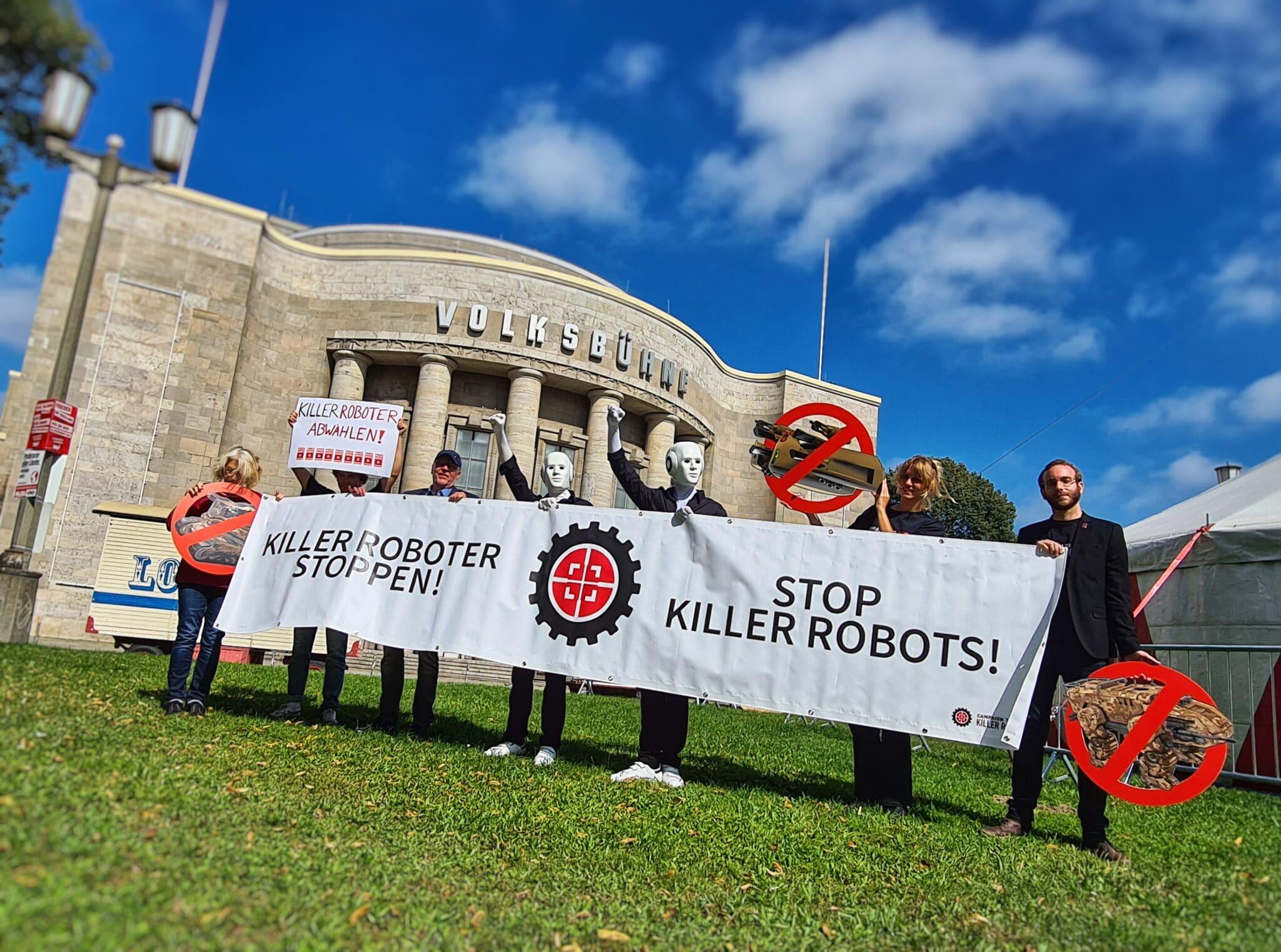Stop Killer Robots - Volksbühne Killer Roboter Stoppen - Volksbühne | Bild (Ausschnitt): © n.v.